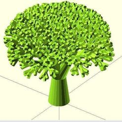 Free STL file Recursive Broccoli, Numbmond