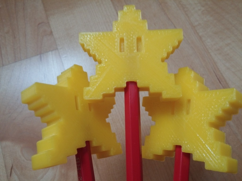 2015-01-03_12.12.14_display_large.jpg Download free STL file Pixel Star Pen Topper • 3D print design, Numbmond