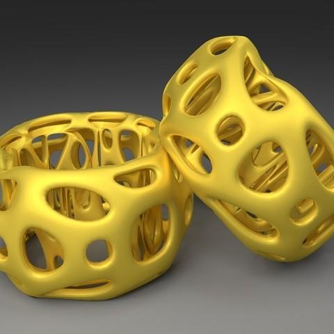 Télécharger fichier imprimante 3D gratuit Rond de serviette - Voronoi Style, Numbmond