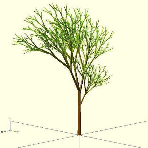 Completely_Random_Tree_2013_display_large.jpg Télécharger fichier STL gratuit Arbre complètement aléatoire • Objet pour impression 3D, Numbmond
