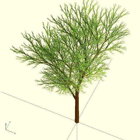 Completely_Random_Tree_44_lvl8_display_large.jpg Télécharger fichier STL gratuit Arbre complètement aléatoire • Objet pour impression 3D, Numbmond