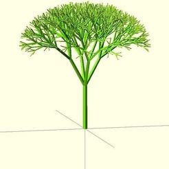 Free 3D model Recursive Tree, Numbmond
