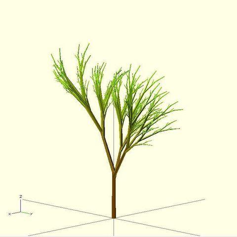 Completely_Random_Tree_1_display_large.jpg Télécharger fichier STL gratuit Arbre complètement aléatoire • Objet pour impression 3D, Numbmond