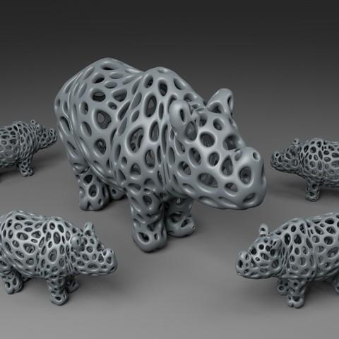 Télécharger fichier 3D gratuit Rhino - Style Voronoi, Numbmond