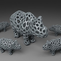 Download free 3D printing files Rhino - Voronoi Style, Numbmond