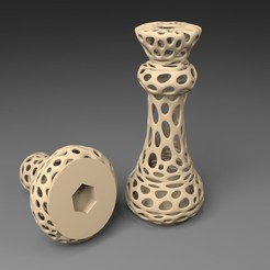 M10_display_large.jpg Download free STL file M10: Voronoi Chess Set with inlets for M10 Nuts • Model to 3D print, Numbmond