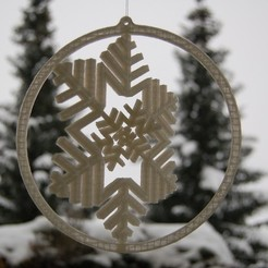 Free 3D printer files Gyroscopic Snowflake, Numbmond