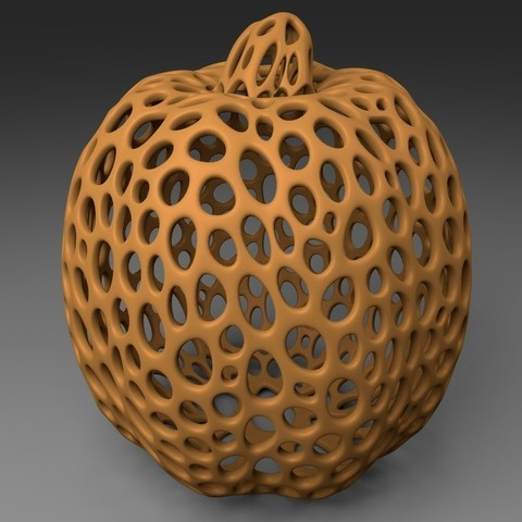 Pumpkin_display_large.jpg Download free STL file Pumpkin - Voronoi Style • 3D printable object, Numbmond