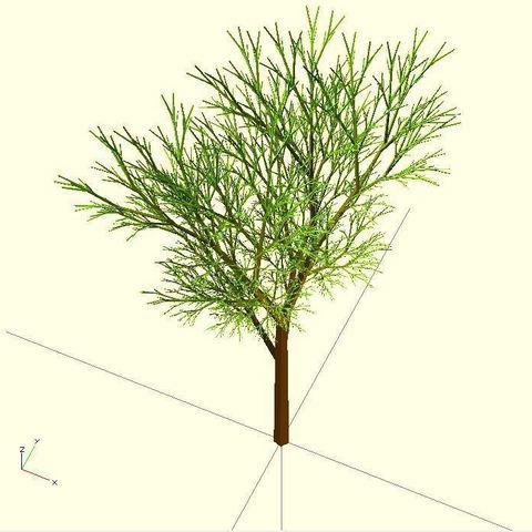 Completely_Random_Tree_44_lvl7_display_large.jpg Télécharger fichier STL gratuit Arbre complètement aléatoire • Objet pour impression 3D, Numbmond