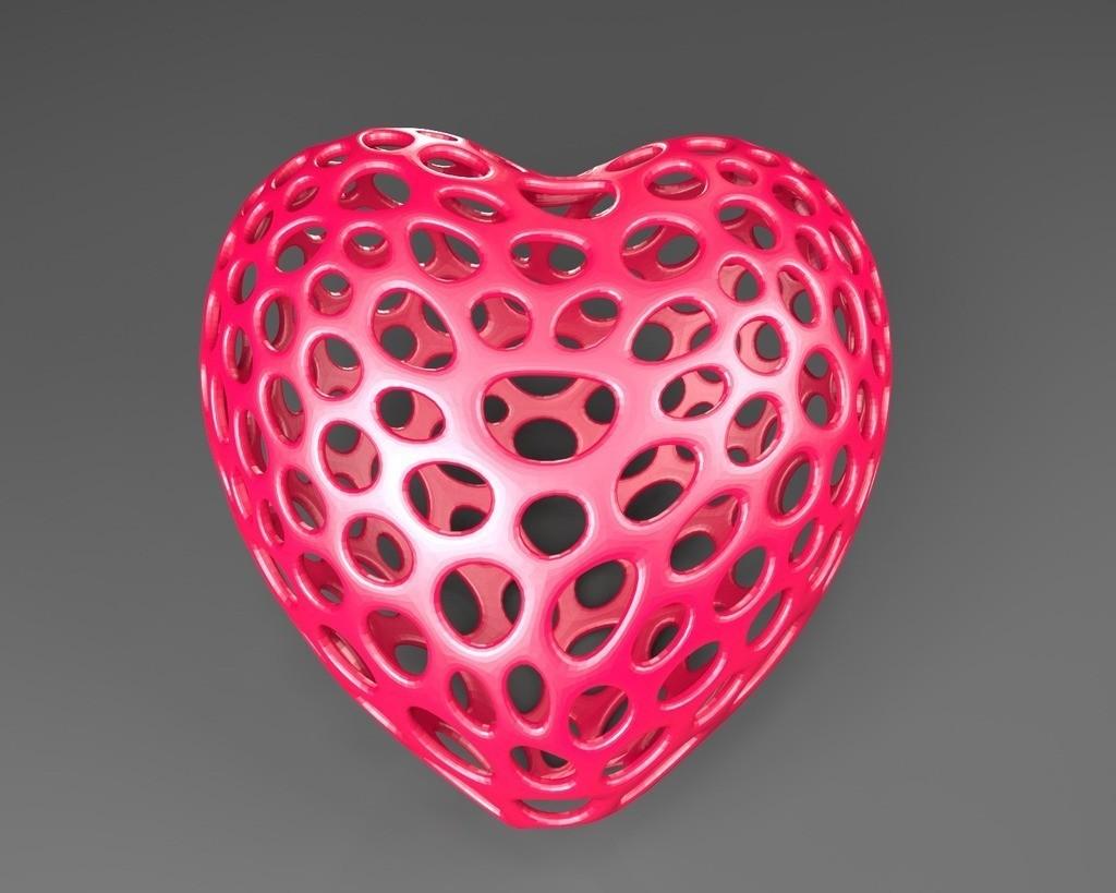 Heart_-_Voronoi_display_large.jpg Download free STL file Heart - Voronoi Style • 3D printable object, Numbmond