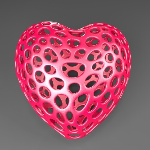 Download free STL file Heart - Voronoi Style • 3D printable object, Numbmond