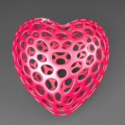 Free 3D print files Heart - Voronoi Style, Numbmond