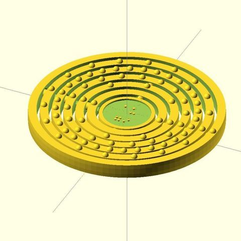 079_-_Au_-_Gold_display_large.jpg Download free STL file Braille optimized Customizable Atom Deluxe (every element preconfigured) • 3D printing object, Numbmond