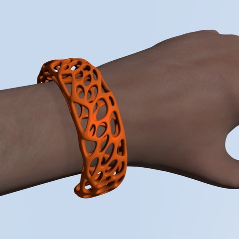 Free 3D print files Voronoi Bracelet, Numbmond