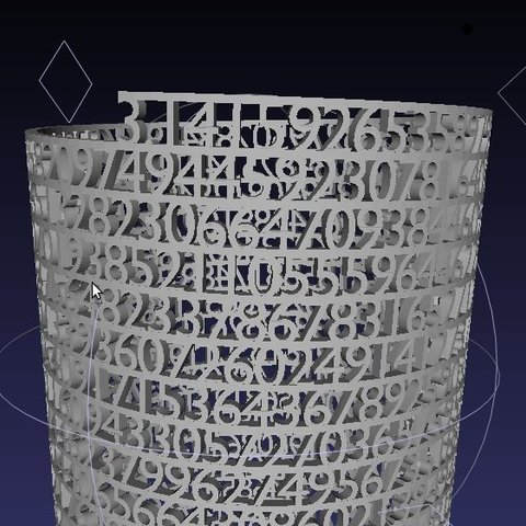 Screenshot3_display_large.jpg Download free STL file Tower of Pi • 3D printer template, Numbmond