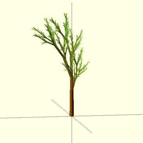 Completely_Random_Tree_4711_display_large.jpg Télécharger fichier STL gratuit Arbre complètement aléatoire • Objet pour impression 3D, Numbmond