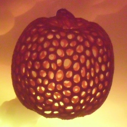 Pumpkin7_display_large_display_large.jpg Download free STL file Pumpkin - Voronoi Style • 3D printable object, Numbmond