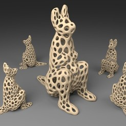 Download free 3D printing templates Kangaroo - Voronoi Style, Numbmond