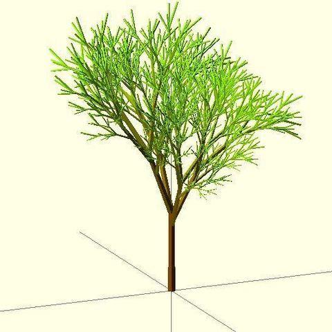 Completely_Random_Tree_42_display_large.jpg Télécharger fichier STL gratuit Arbre complètement aléatoire • Objet pour impression 3D, Numbmond