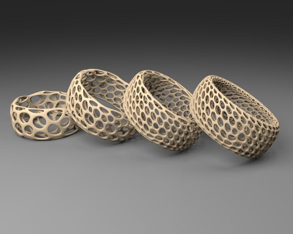 convexBracelet_-_Voronoi_display_large.jpg Download free STL file Bracelet - Voronoi Style • 3D print model, Numbmond