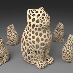 Download free 3D printer templates LASER CAT - Voronoi Style, Numbmond