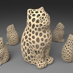 Descargar modelo 3D gratis GATO LÁSER - Estilo Voronoi, Numbmond