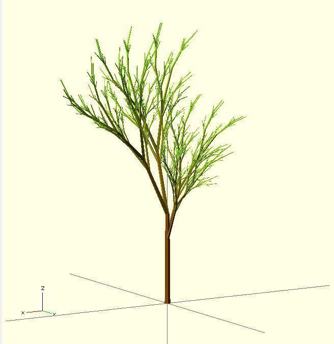 Completely_Random_Tree_45_display_large.jpg Télécharger fichier STL gratuit Arbre complètement aléatoire • Objet pour impression 3D, Numbmond