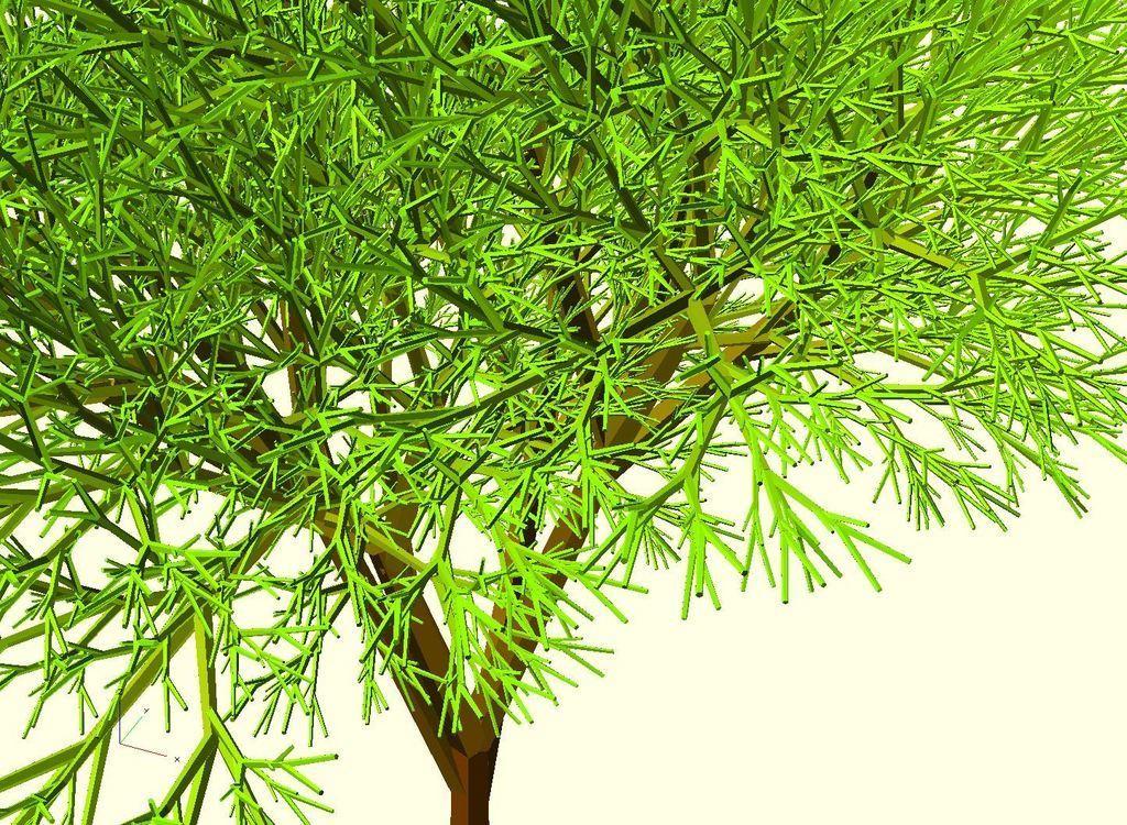 Completely_Random_Tree_42_lvl8_closeup_display_large.jpg Télécharger fichier STL gratuit Arbre complètement aléatoire • Objet pour impression 3D, Numbmond