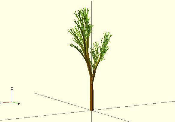 Completely_Random_Tree_43_display_large.jpg Télécharger fichier STL gratuit Arbre complètement aléatoire • Objet pour impression 3D, Numbmond