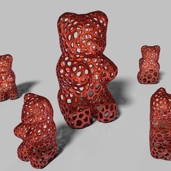 Free STL files Gummy Bear - Voronoi Style, Numbmond