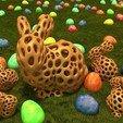 Download free 3D printer designs Stanford Bunny - Voronoi Style, Numbmond