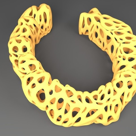 Download free 3D printer designs Esculation Bracelet - Voronoi Style, Numbmond