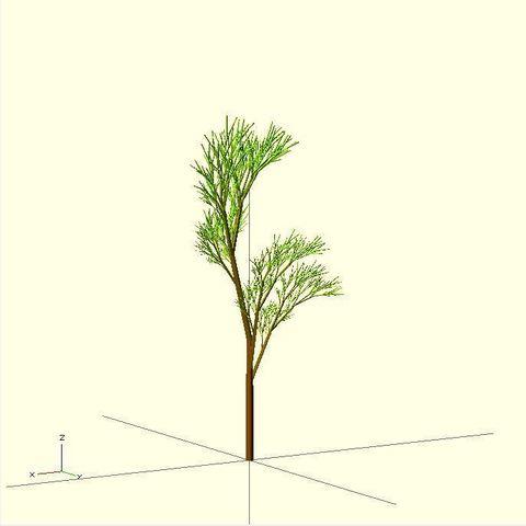 Completely_Random_Tree_44_display_large.jpg Télécharger fichier STL gratuit Arbre complètement aléatoire • Objet pour impression 3D, Numbmond