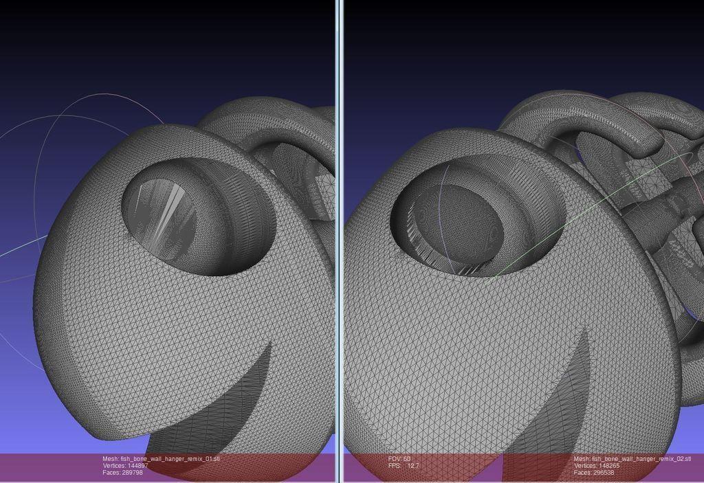 Screenshot_display_large.jpg Download free STL file Fish Bone Wall Hanger - with Flat Eye • Template to 3D print, Numbmond