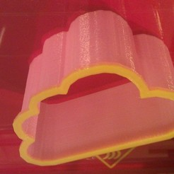 Download free 3D printer model Cloud cookie cutter, Numbmond