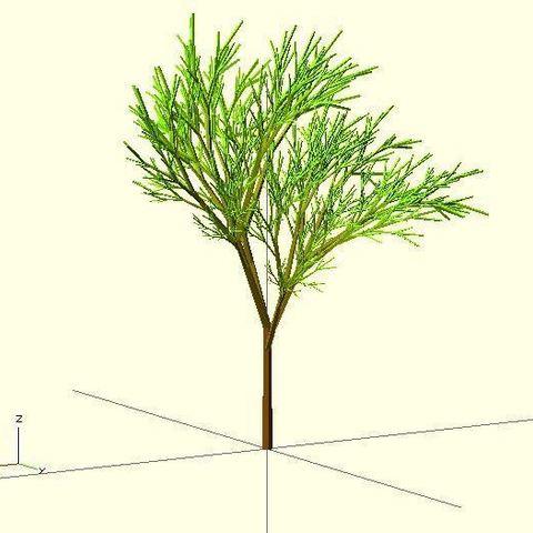 Completely_Random_Tree_23_display_large.jpg Télécharger fichier STL gratuit Arbre complètement aléatoire • Objet pour impression 3D, Numbmond