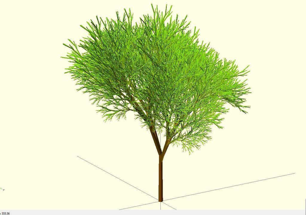 Completely_Random_Tree_42_lvl8_display_large.jpg Télécharger fichier STL gratuit Arbre complètement aléatoire • Objet pour impression 3D, Numbmond