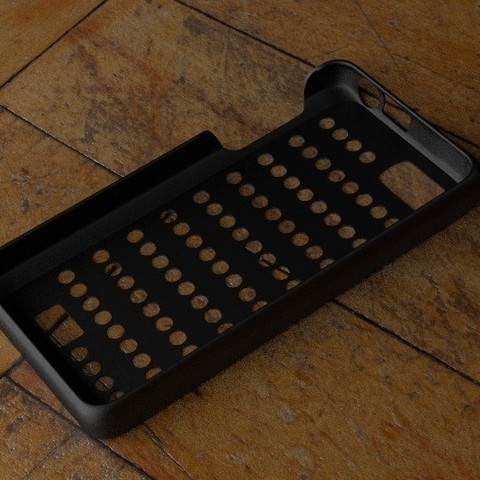 Télécharger STL gratuit Cas Fairphone no 2 : Découpe des trous de la grille, Numbmond