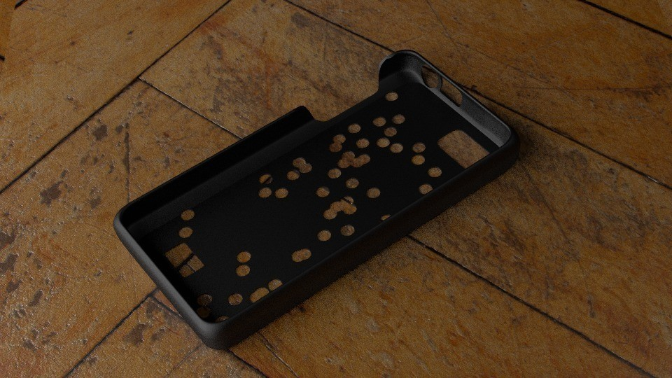 inside_display_large.jpg Télécharger fichier STL gratuit Cas Fairphone no 3 : Découpe de trous aléatoires • Objet à imprimer en 3D, Numbmond