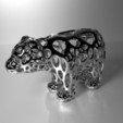 Download free 3D printer files Bear - Voronoi Style, Numbmond
