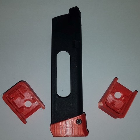 3D print files WE magazine base for CO2 mag mag Glock heel, LoopingFrenchAirsoftSniper