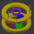 Free 3D printer designs Fractal Gear Bearing and Planetary, FractalGears