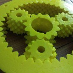 Free 3D printer designs Fractal Gear Bearing and Planetary, FractalGears