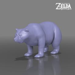 bear.png Télécharger fichier STL L'ours - La légende de Zelda - Le souffle de la nature • Modèle pour imprimante 3D, 3DXperts