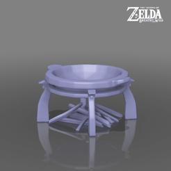 cookset.png Télécharger fichier STL Cook Set / Fire Pit - La légende de Zelda - Le souffle de la nature • Objet à imprimer en 3D, 3DXperts