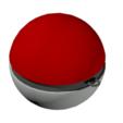 3D printing model Pokeball key ring, louisve6
