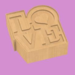 LOVE_B v2_a.png Télécharger fichier STL SOLID SHAMPOOO PRESS JABON SOLIDO MOLDE Bath Bomb Mold LOVE. • Modèle imprimable en 3D, pachecolilium