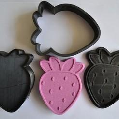 fresa.jpg Download STL file SOLID SHAMPOO PRESS JABON SOLIDO MOLDE Strawberry • Design to 3D print, pachecolilium