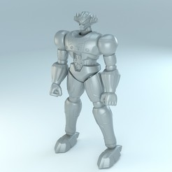 Download 3D printer templates Steel God Jeeg - Shin Jeeg robot d'acciaio classic comic, Gioppa