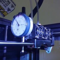 Imprimir en 3D gratis Replicator 2X Dial Indicator Holder para Mitutoyo, Darkolas